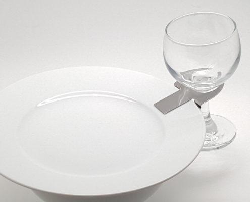 Clip assiette en l'air